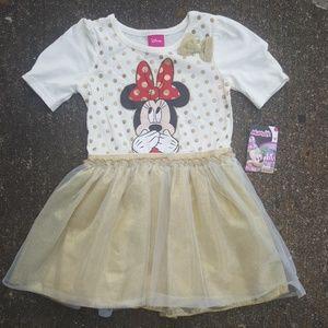 Disney Minnie Mouse Toddler Girls Dress 3T NWT